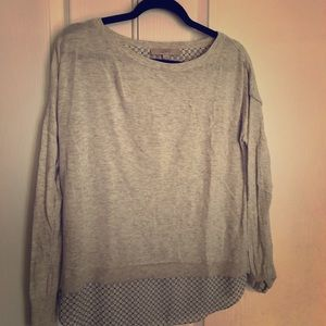 Loft combination sweater and blouse